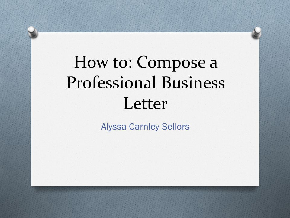 Professional Business Writing s and Letters - ppt download - professional business letter