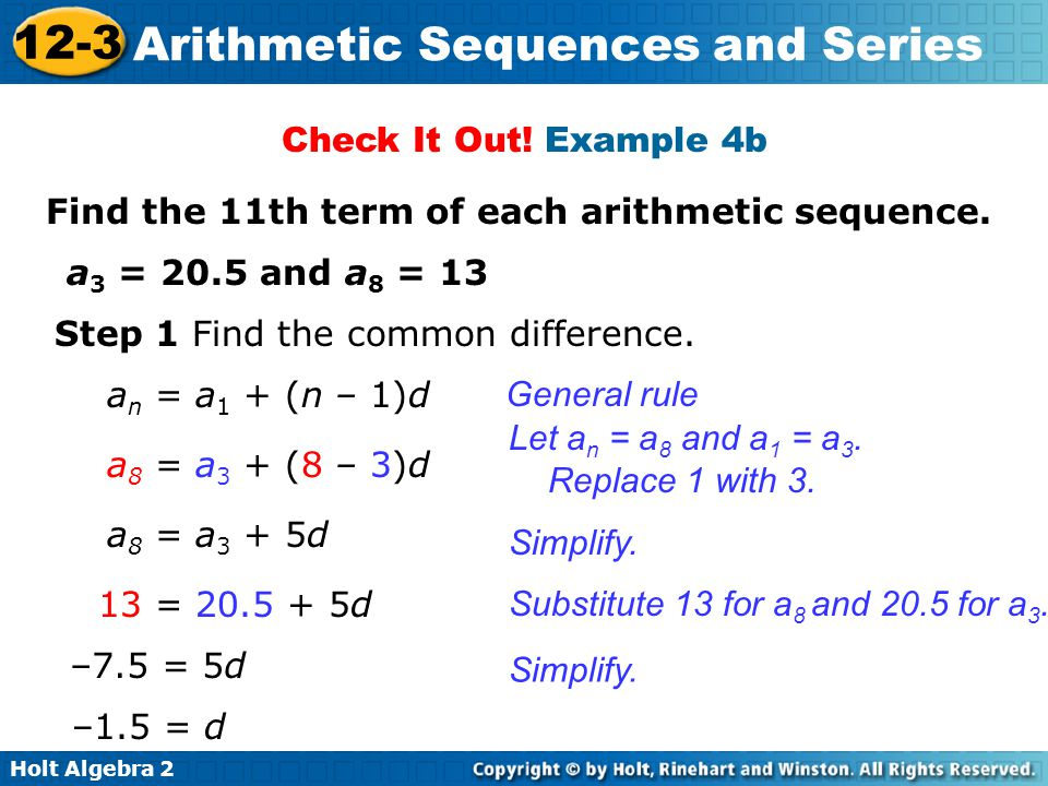 ... Arithmetic Sequence Example Plainresume   Arithmetic Sequence Example  ...