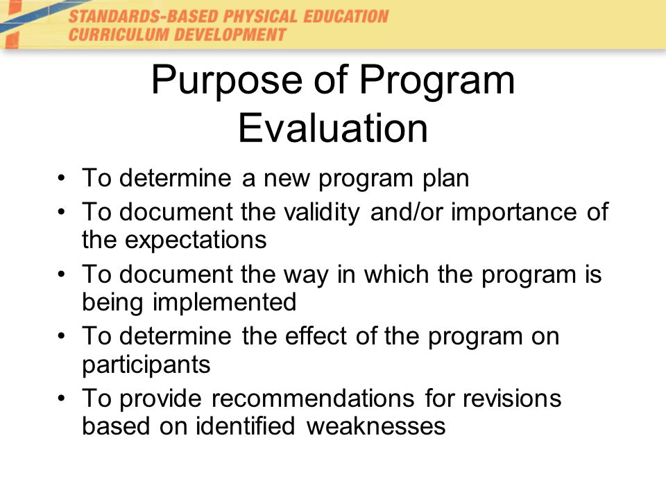 Program Evaluation - ppt video online download - Program Evaluation