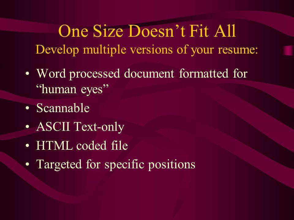 ascii format resume - Akbagreenw