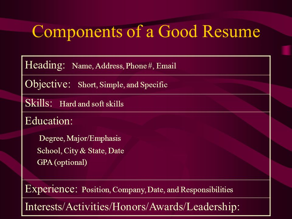 resume software company