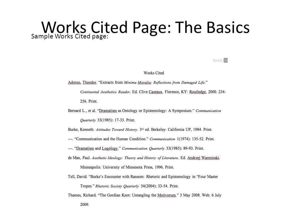 Mla Work Cited Format Example Choice Image - Resume Cover Letter