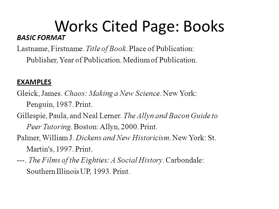 mla works cited book - Peopledavidjoel - Mla Work Cited Book