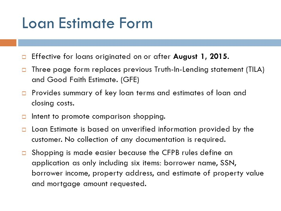 Loan Estimate Form - Resume Template Ideas - Loan Estimate Form