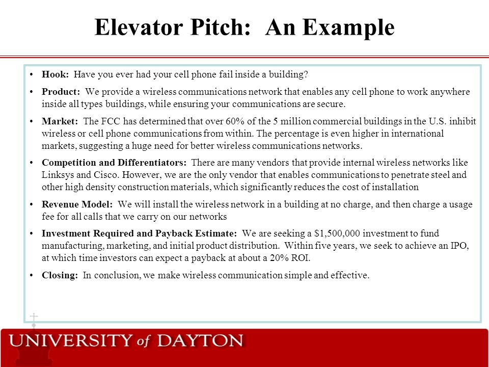 The \u201cArt\u201d of the Elevator Pitch - ppt video online download