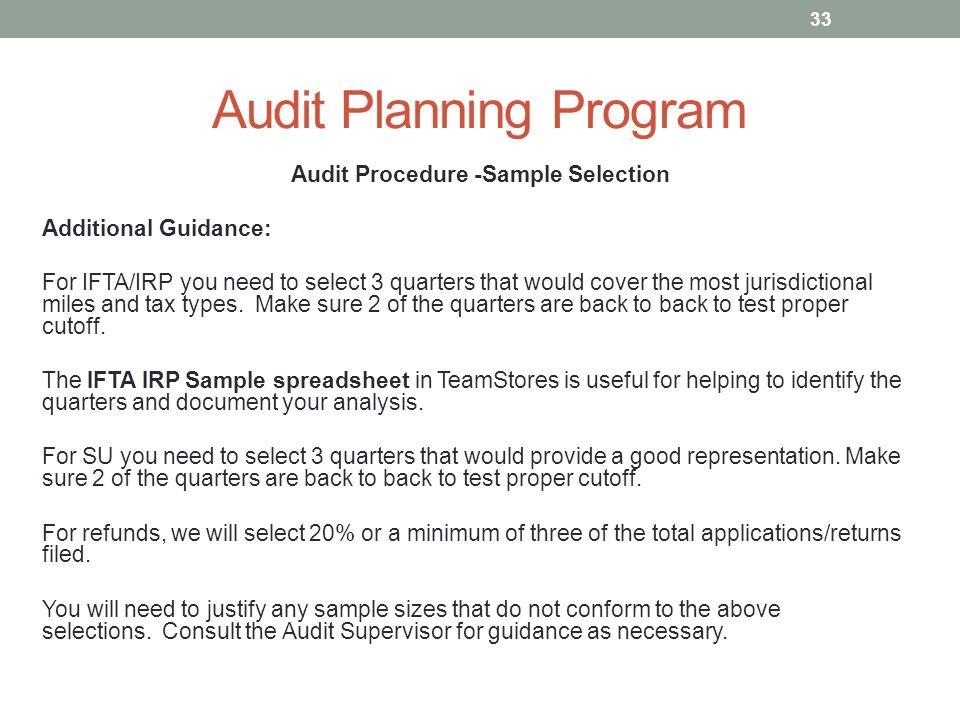 Developing a Standard Audit Program Using CCH Teammate Audit - sample audit program