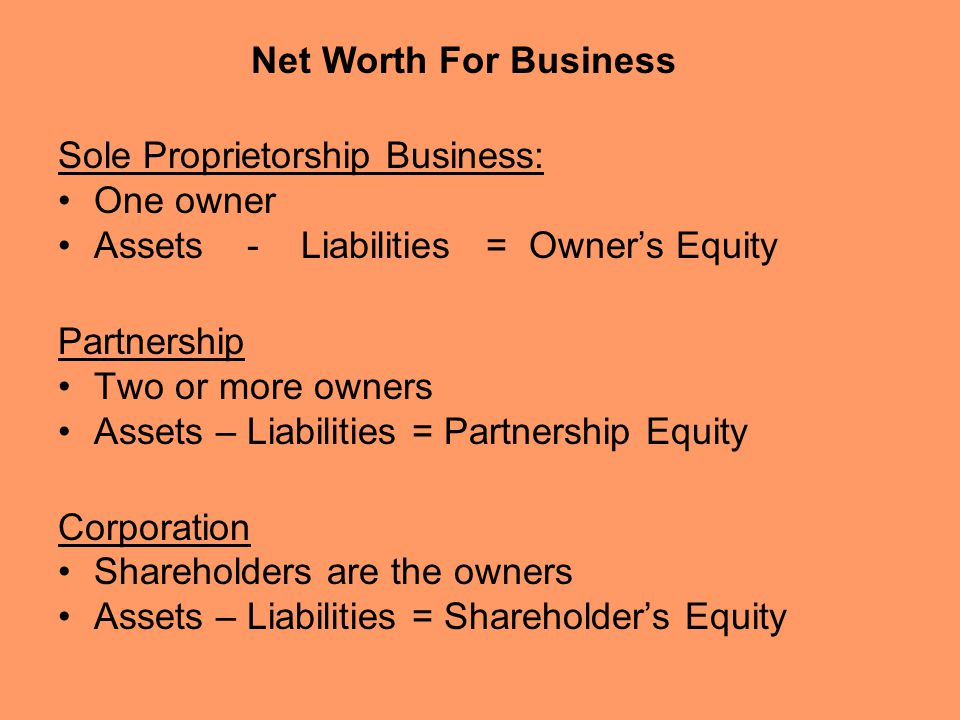 net worth of business - Akbagreenw - assets liabilities net worth