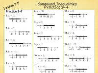 Compound Inequalities Worksheet With Answers Worksheets ...