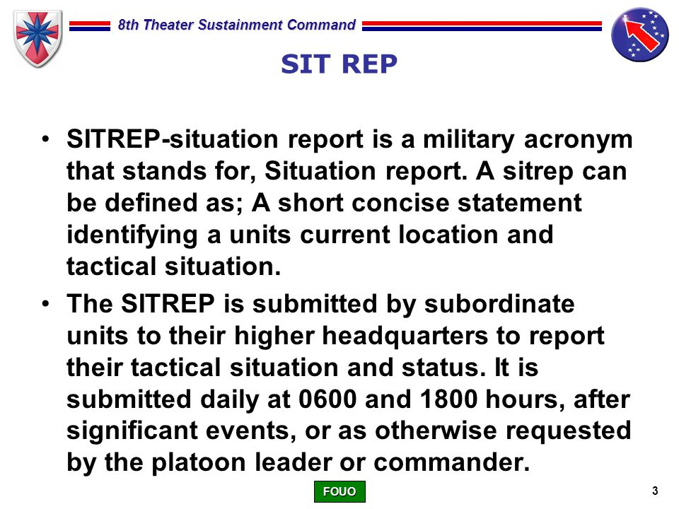 Writing A Situation Report Sit