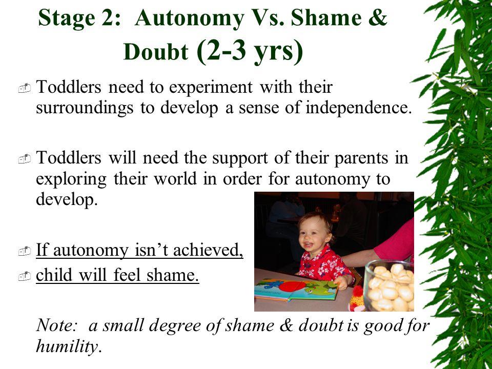 Autonomy Vs Shame And Doubt 2 3 Yrs