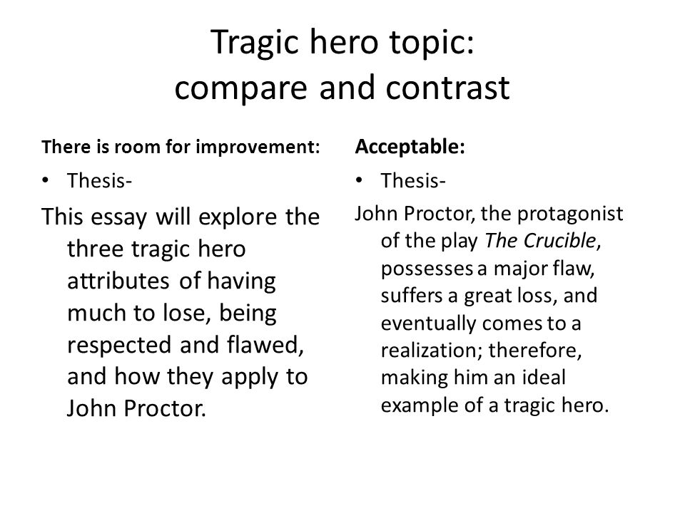 example of thesis statement for compare and contrast essay
