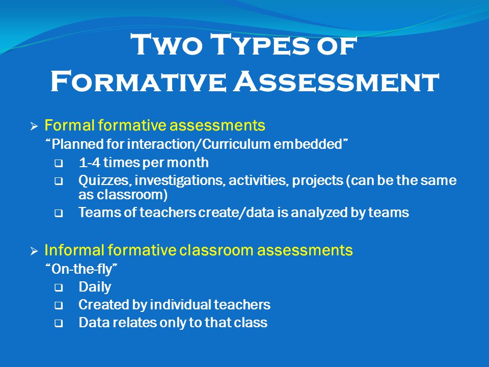 Different Examples Of Formative Assessment - Resume Template Sample