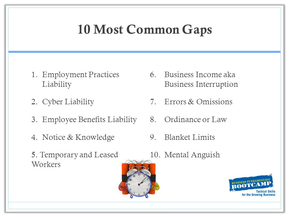 ... 10 Common Gaps In Business Insurance   Ppt Download   Gaps In Employment  ...  Gaps In Employment