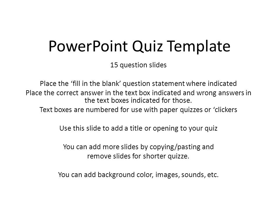 Quiz Template Powerpoint \u2013 quantumgaming - online quiz templates