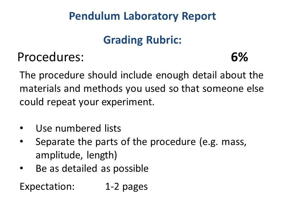 Procedure lab report Custom paper Help dfassignmenteoot - lab report sample
