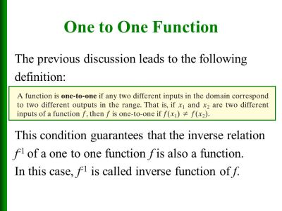 One-to-One Functions; - ppt video online download