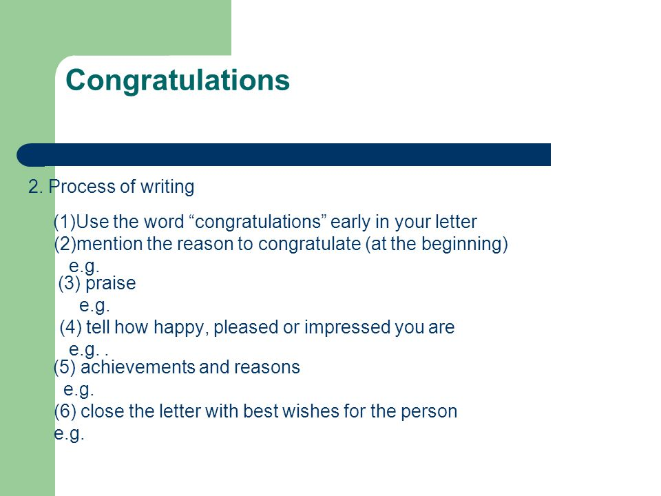 Congratulation Letters - ppt video online download - congratulations letter