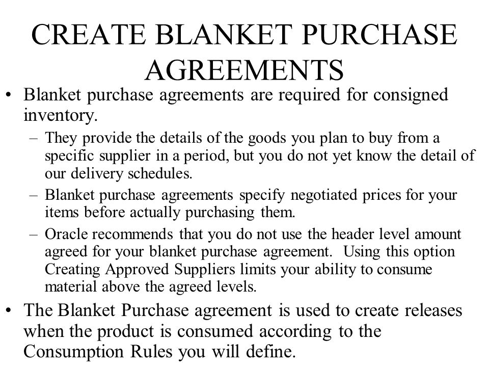 Blanket Purchase Agreements - Design Templates