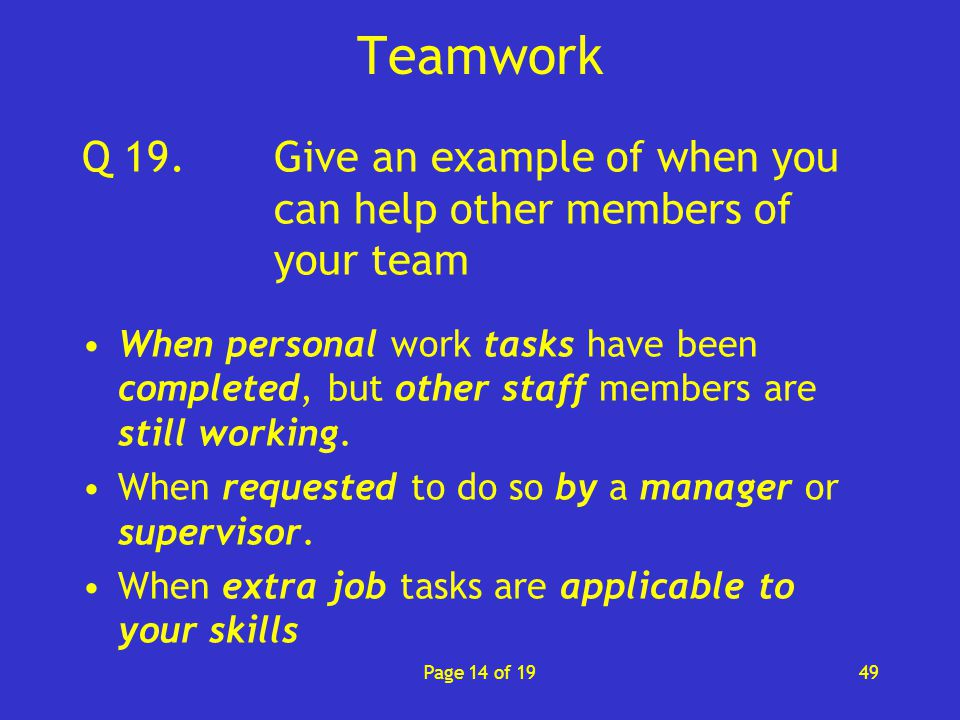 Contribute to effective teamwork (1GEN4) - ppt video online download - an example of teamwork