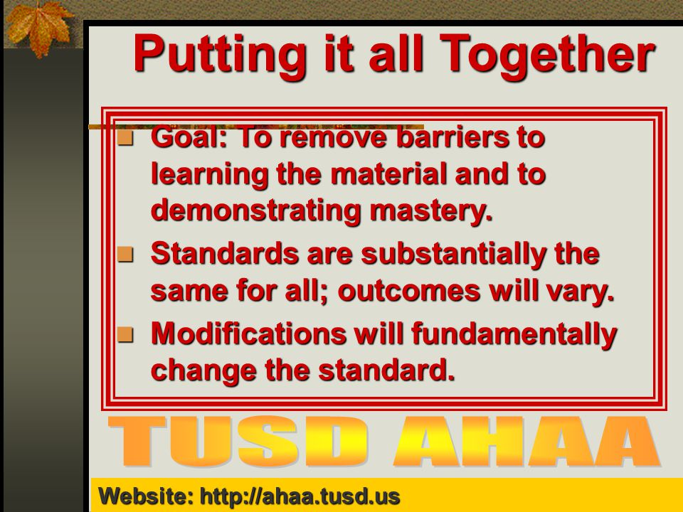 Website TUSD AHAA Website Diana Browning Wright, Teaching and - ahaa
