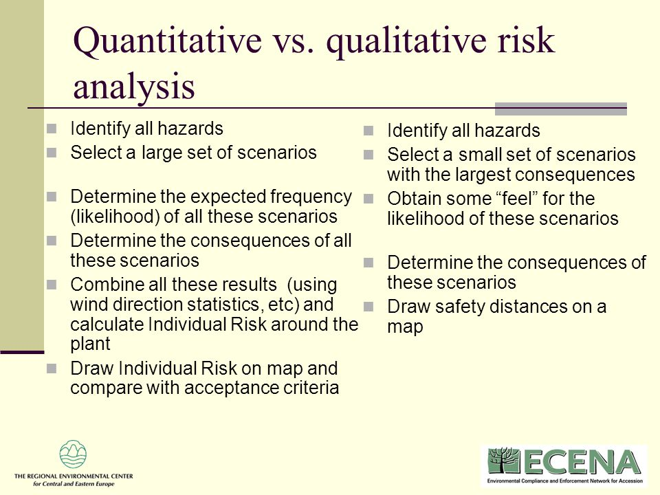 Sample Quantitative Risk Analysis what is qualitative research - quantitative risk analysis
