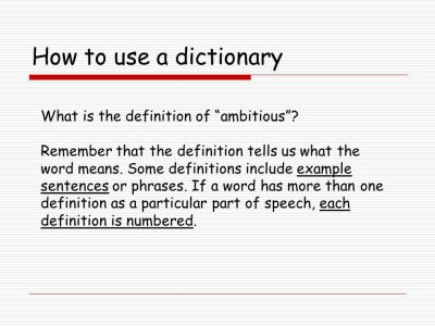 Let's Use a Dictionary! What do we do first?. - ppt download