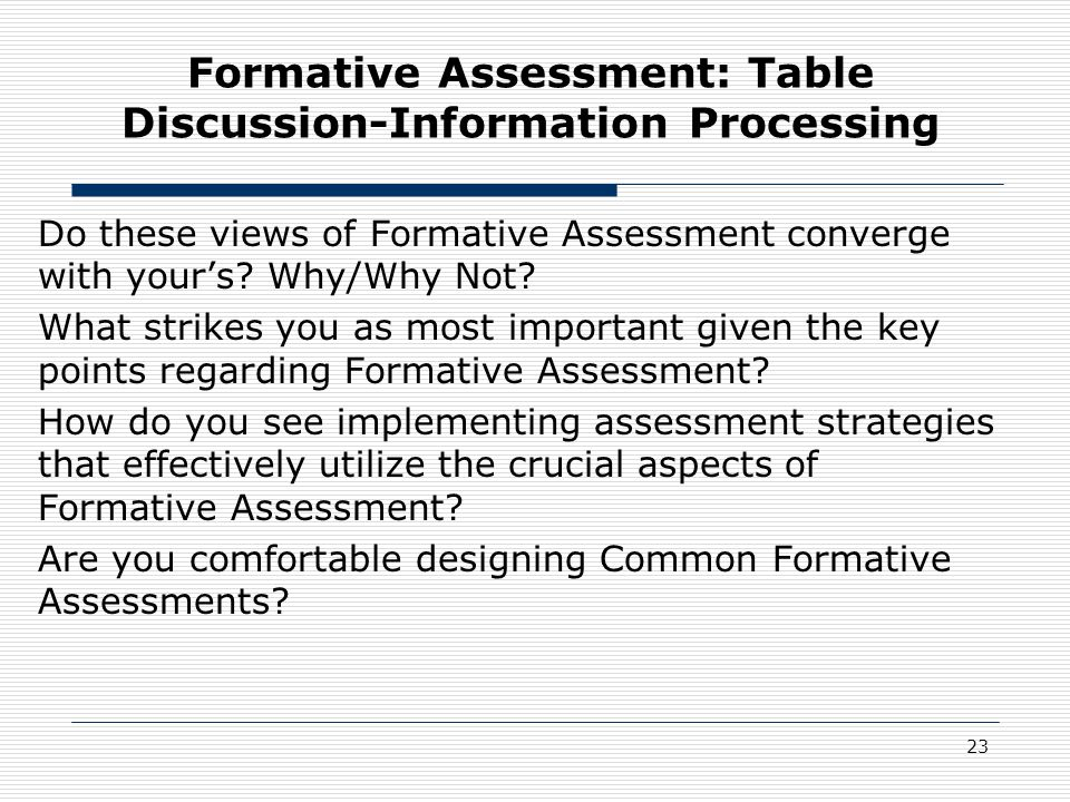 1st Annual Data Summit Comprehensive Assessment Systems  Formative - formative assessment strategies