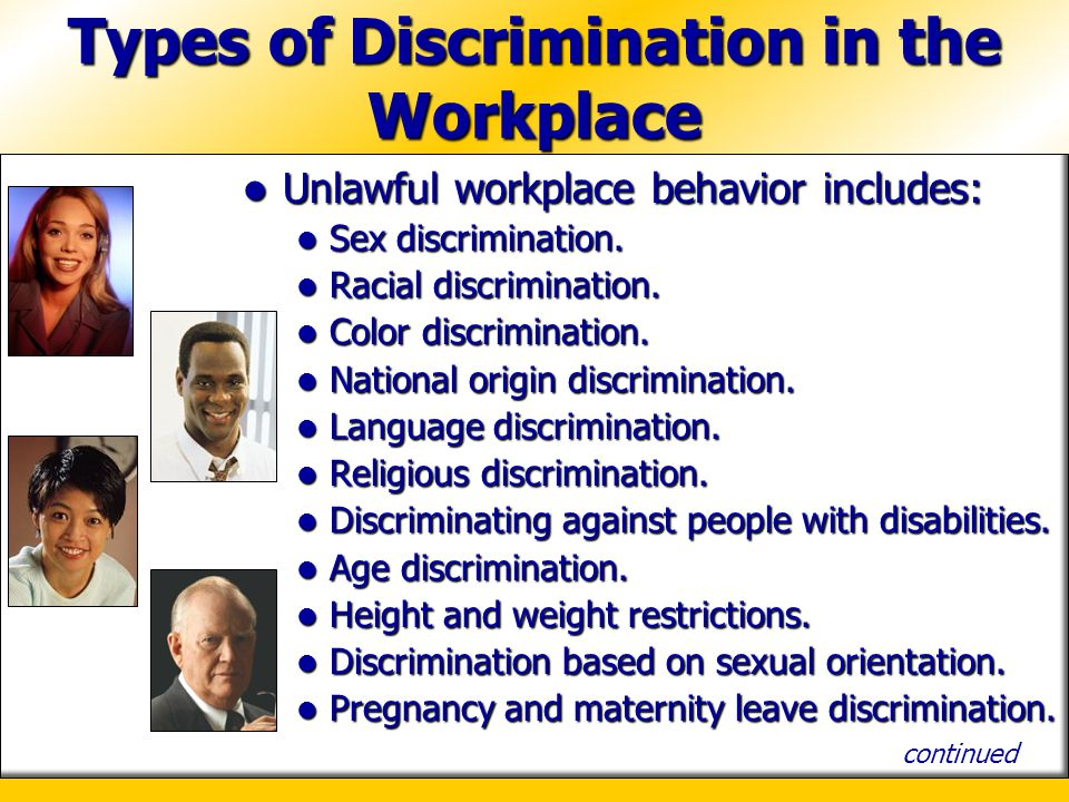 Discrimination in the Workplace - Definition, Examples, Cases, Processes