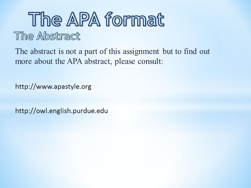 format for college paper