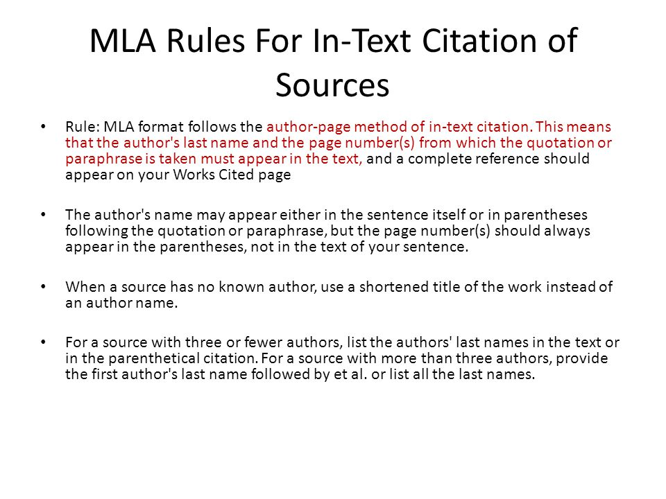 mla format rules - Romeolandinez - Mla Format For Citations