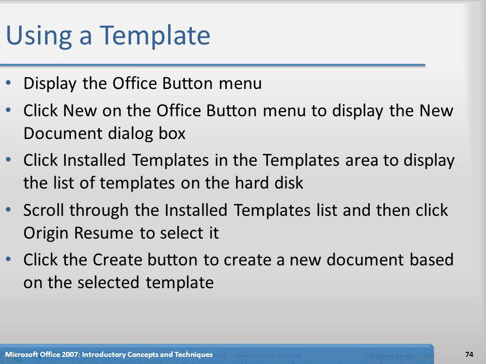 Creating a Cover Letter and a Resume - ppt download - microsoft office menu templates