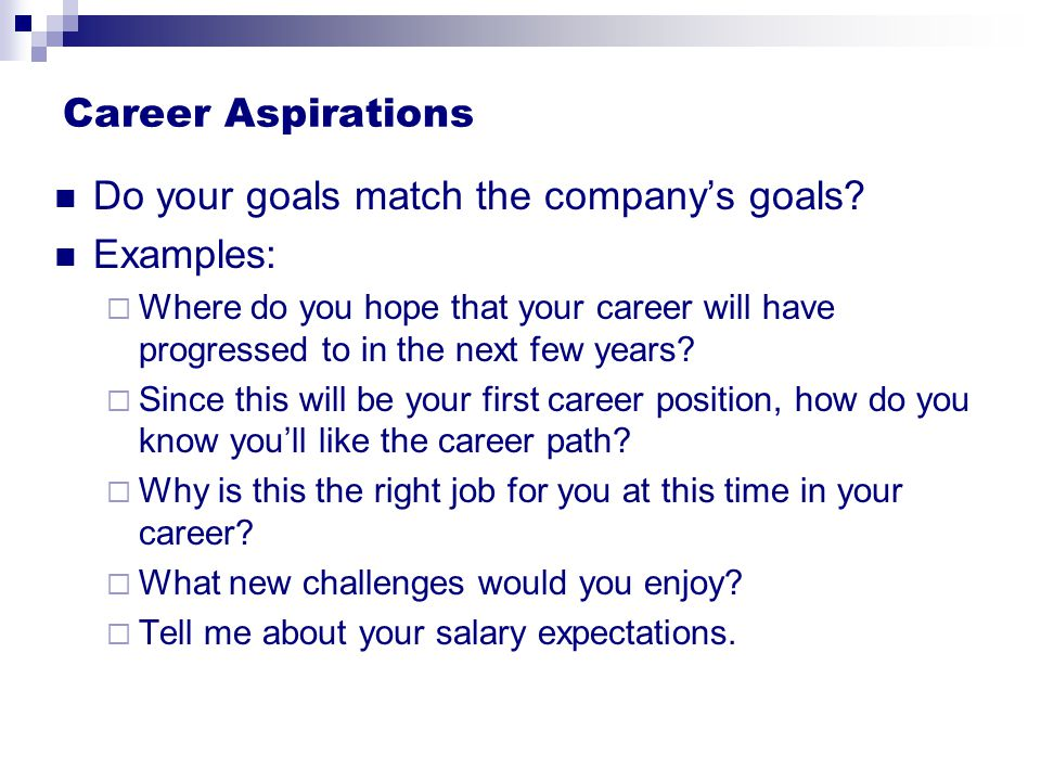 examples of aspirations