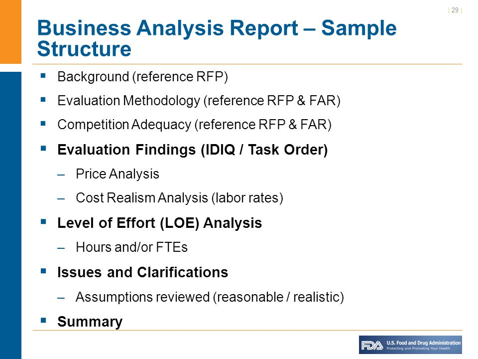 business analysis report sample – Sample Business Analysis