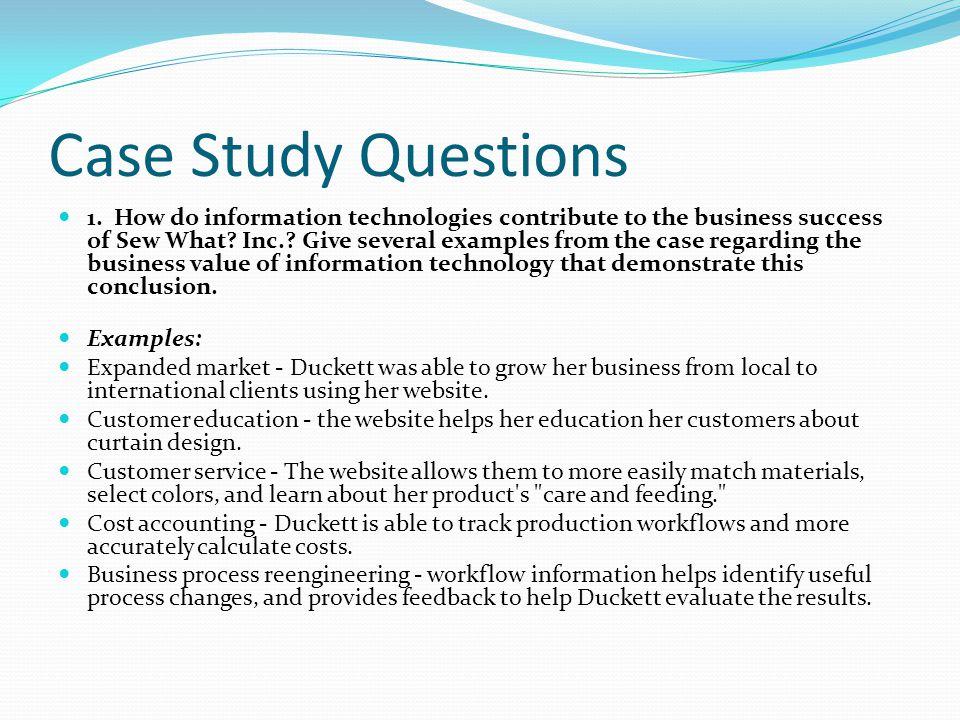 Written Case Study Interview -