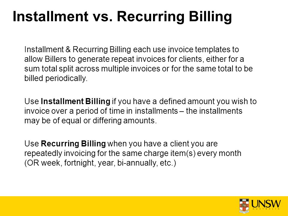 Installment \ Recurring Billing - ppt download - when invoice is generated