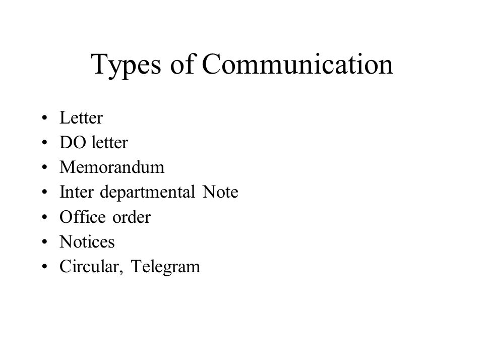 inter office communication letter – Types of Office Communication