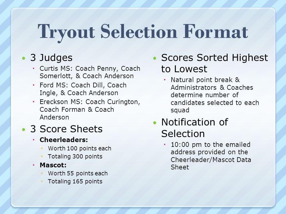 Cheerleading Tryout Score Sheet Sample Phase Score Sheet Template