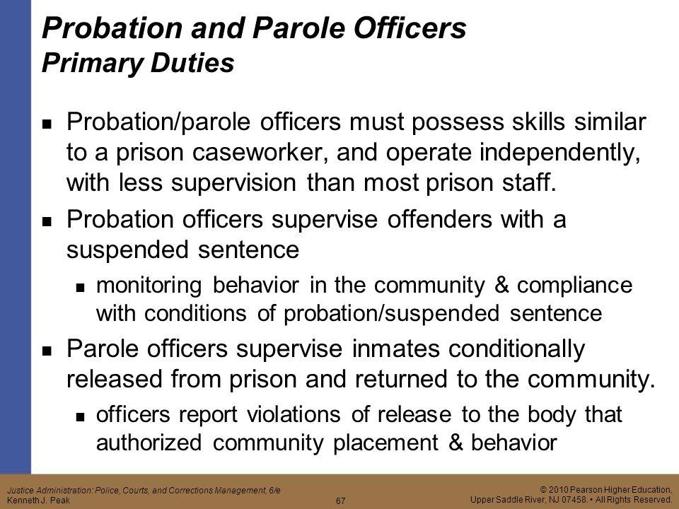 Probation Officer Job Description - Resume Template Sample