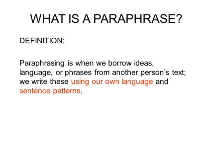 BORROWING LANGUAGE AND IDEAS - ppt video online download