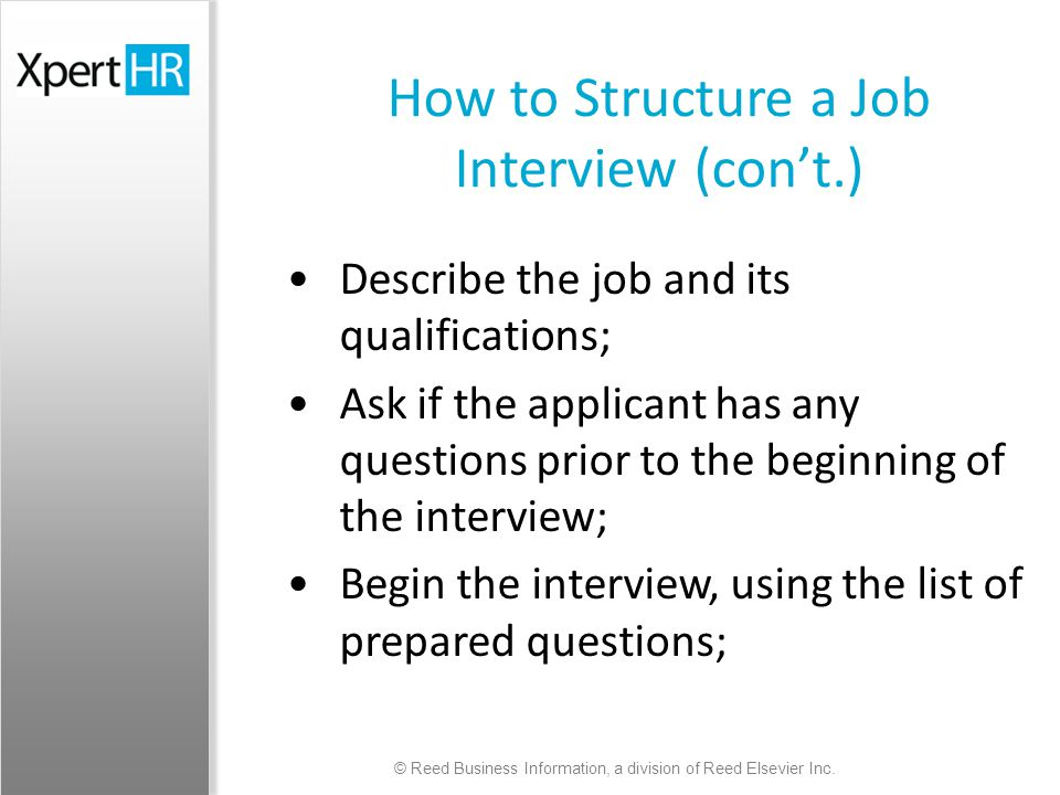 Interviewing Job Applicants - Supervisor Briefing - ppt video - job qualifications list