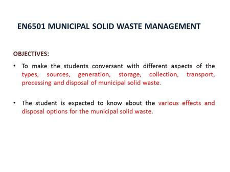 Ppt on e waste management in india - waste management ppt