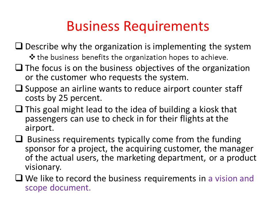 A Requirement Interpretation - ppt download - business requirement documents
