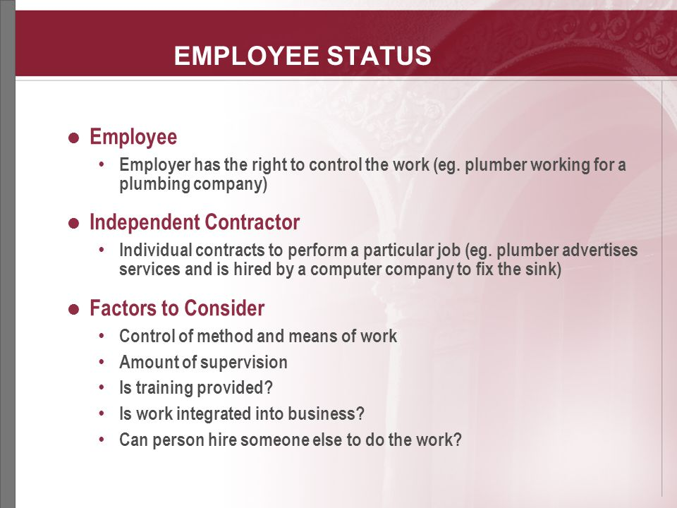 Differences Employee Independent Contractor difference between - differences employee independent contractor