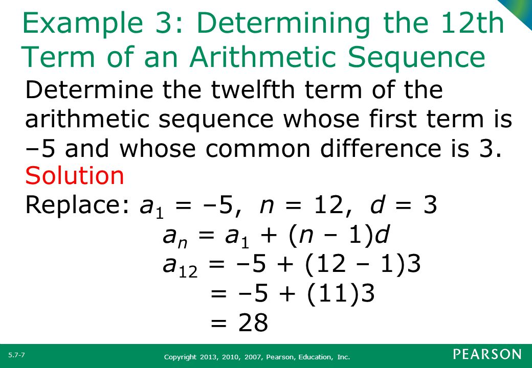 Arithmetic Sequence Example  NodeCvresumePaasproviderCom