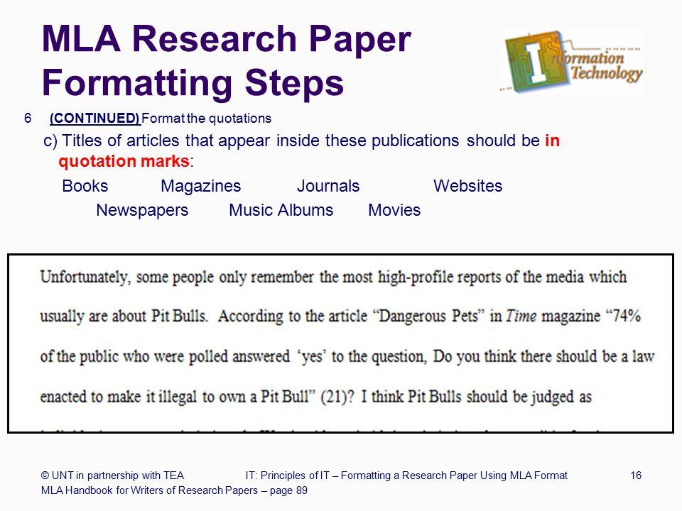 research essay mla format - Baskanidai
