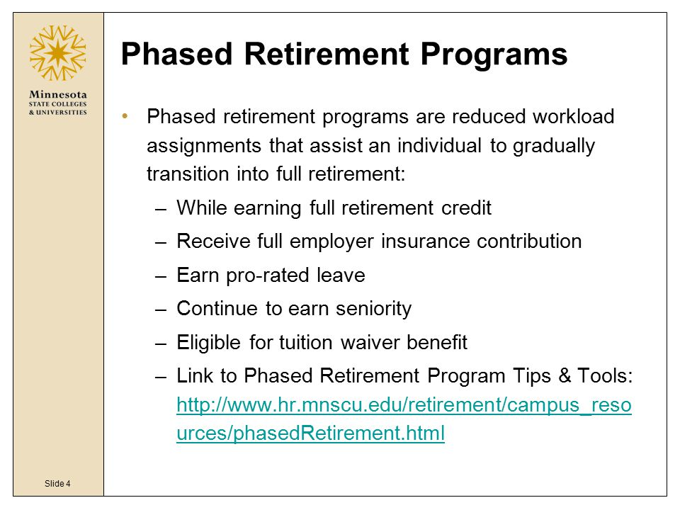MnSCU Retirement Plans - ppt video online download - retirement program