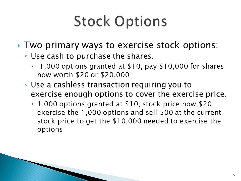 Purchasing stock options - how to buy options
