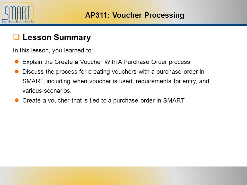 Welcome to AP311 Voucher Processing - ppt download - creating a voucher