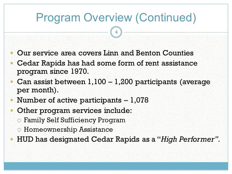 City of Cedar Rapids Housing Services Housing Choice Voucher - rental assistance form