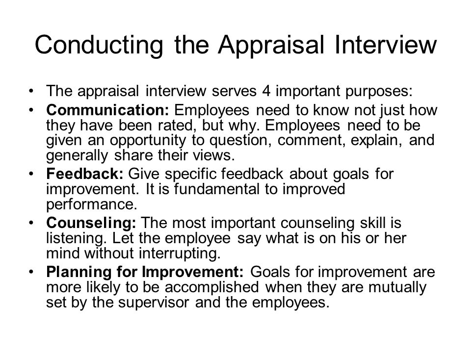 Performance Appraisal - ppt video online download - conduct employee evaluations